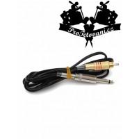 RCA clip cord silicone black