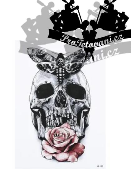 Dočasné tetování tetovačka Smrtihlav