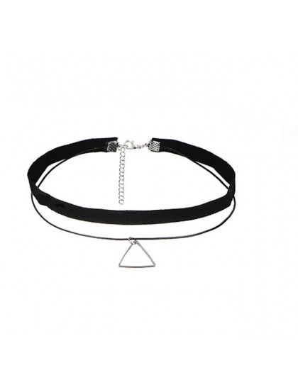 Náhrdelník Choker black Double Triangle