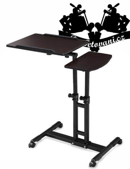 Stůl na tetovací vybavení nastavitelný dřevo Working table