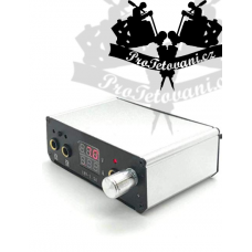 Dual tattoo power supply mini Silver LCD