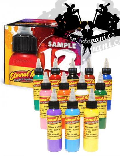 Eternal ink Set universálních odstínů tetovacích barev 12ks