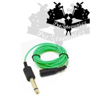 Extra thin 3.5 cable with 6.3 GREEN outlet
