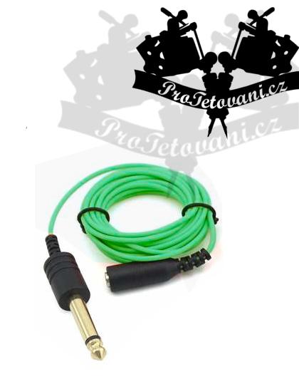 Extra tenčený 3,5 kabel s vývodem 6,3 GREEN