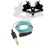 Extra thin 3.5 cable with 6.3 LIGHT BLUE outlet
