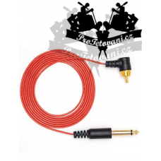 Extra thin RCA CORD for tattoo machines red