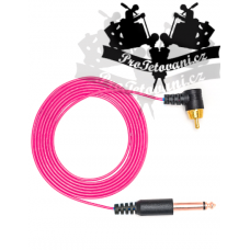 Extra thin RCA CORD pink for tattoo machines
