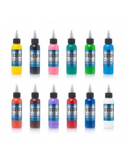 Fusion ink kompletní set 12 ks tetovacích barev