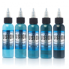 Fusion ink set of shading tattoo colors Opaque BLUE