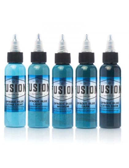 Fusion ink set stínovacích tetovacích barev Opaque BLUE