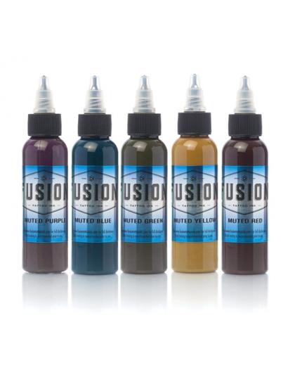 Fusion ink set Tlumených tetovacích barev