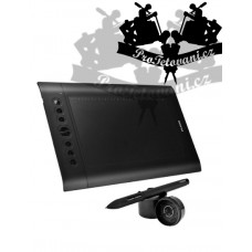 Huion PRO graphics tablet with a pen to create tattoo motifs on a PC