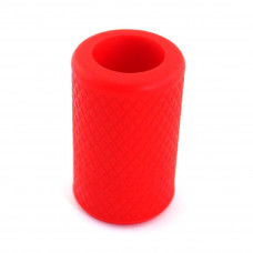 Anti-slip silicone sleeve for tattoo grip Red