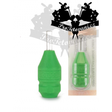 Plastic sterile tattoo grip with rubber sleeve for Circle tattoo cartridge