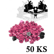 Grommets rubber bands for tattoo machines 50pcs purple mix