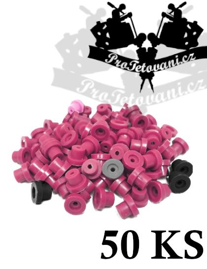 Grommets gumičky pro tetovací strojky 50ks purple mix
