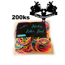 Rubber bands for tattoo machine rubberbands 200pcs vibrant