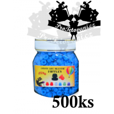 Grommets rubber bands for tattoo machines blue package 500 pcs
