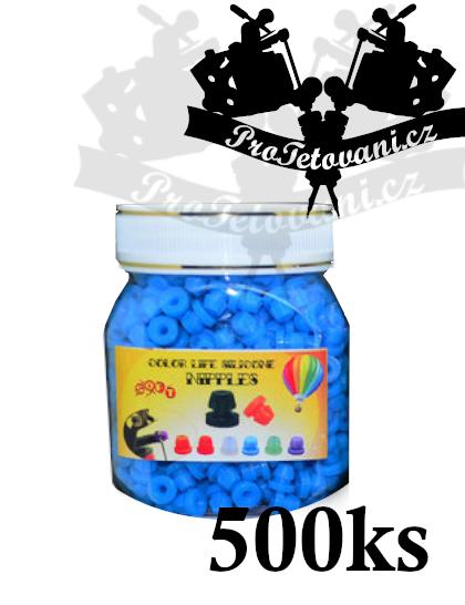 Grommets gumičky pro tetovací strojky blue balení 500 ks