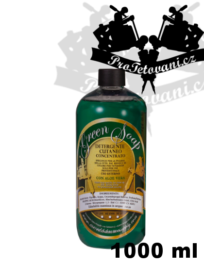 Green soap mýdlo s obsahem Aloe Vera koncentrát 1000 ml