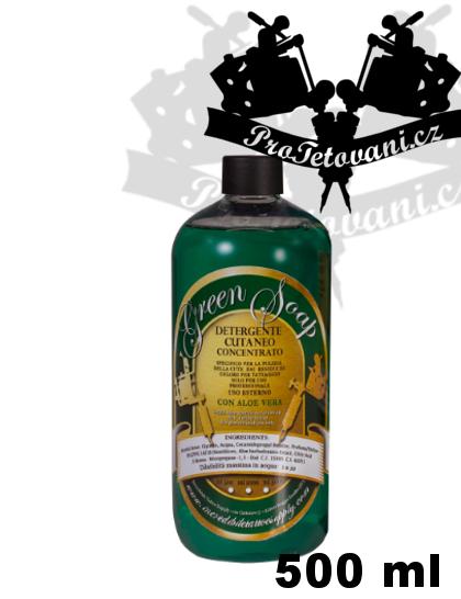 Green soap mýdlo s obsahem Aloe Vera koncentrát 500 ml