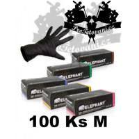 Latex gloves ELEPHANT BLACK suitable for tattoos size M