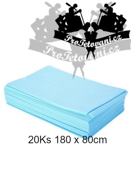 Modrý vodě-odolný potah pro lehátko 20 ks