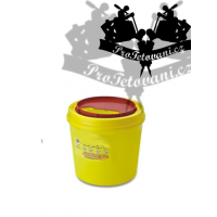 Tattoo waste container 1l yellow round