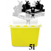 Tattoo waste container 5l yellow