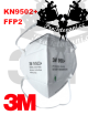 Originální Respirátor 3M 9502 KN95 FFP2 1 ks