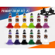 Set of tattoo colors World Famous Ink 12 colors in a set