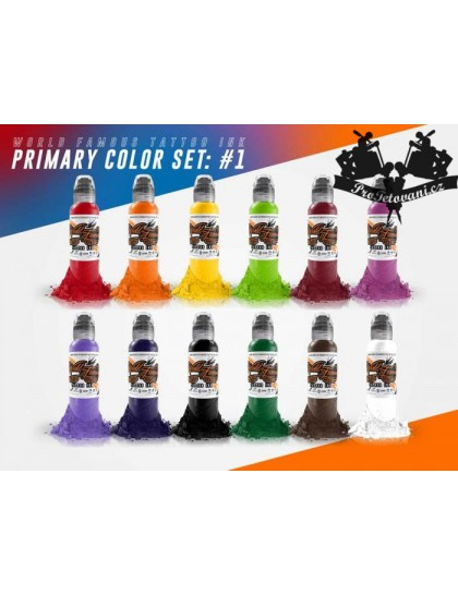 Set tetovacích barev World Famous Ink 12 barev v sadě