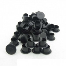 Tattoo cups 11 mm with a flat black