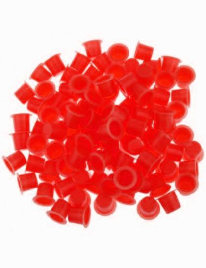 Kalíšky pro tetovací barvy 8mm 50ks Red
