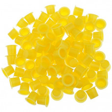 Cups for tattoo colors 8mm 50pcs Yellow