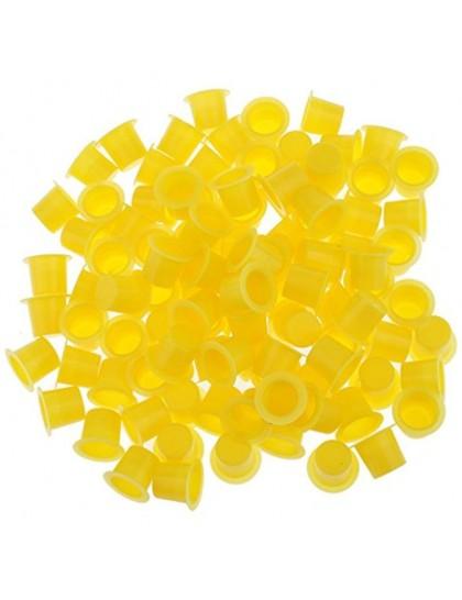 Kalíšky pro tetovací barvy 15mm yellow 50ks