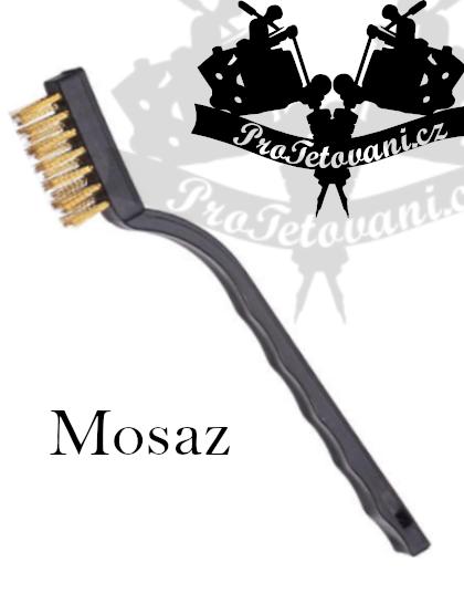 Kartáč na čištění tetovacího vybavení MOSAZ
