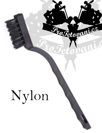 Kartáč na čištění tetovacího vybavení NYLON