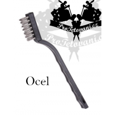 Brush for cleaning tattoo equipment STEEL