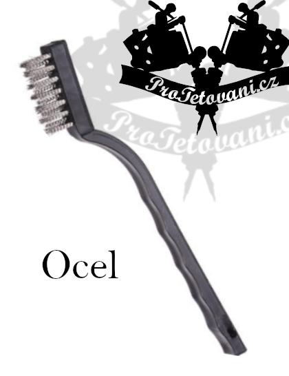 Kartáč na čištění tetovacího vybavení OCEL