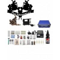 Kombinovaná tetovací sada s rotačním i cívkovým strojkem, kufrem a Millennium moms Black onyx