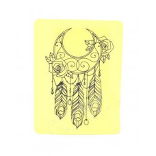 Silicone training tattoo skin Dream catcher