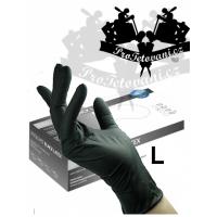 Latex gloves BLACK LATEX L