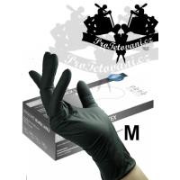 Latex gloves BLACK LATEX M