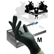 Latex gloves BLACK LATEX M