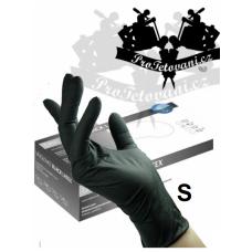 Latex gloves BLACK LATEX S
