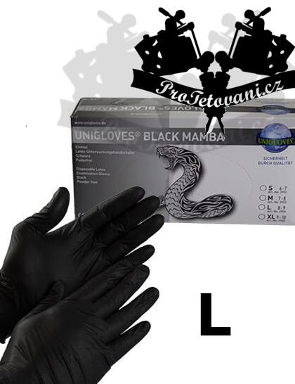 Latexové rukavice BLACK MAMBA L