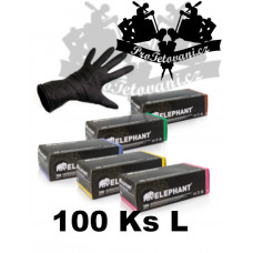 Latex gloves ELEPHANT BLACK suitable for tattoos size L