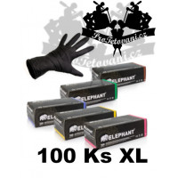 Latex gloves ELEPHANT BLACK suitable for tattoos size XL