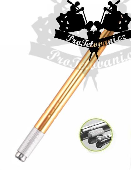 Manuální pero pro 3D permanentní make up Gold rings